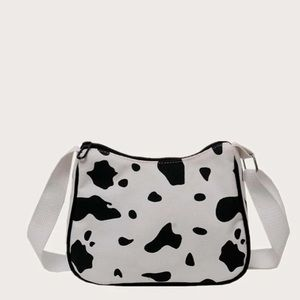 Handbags - New! Cow Print Handbag White And Black